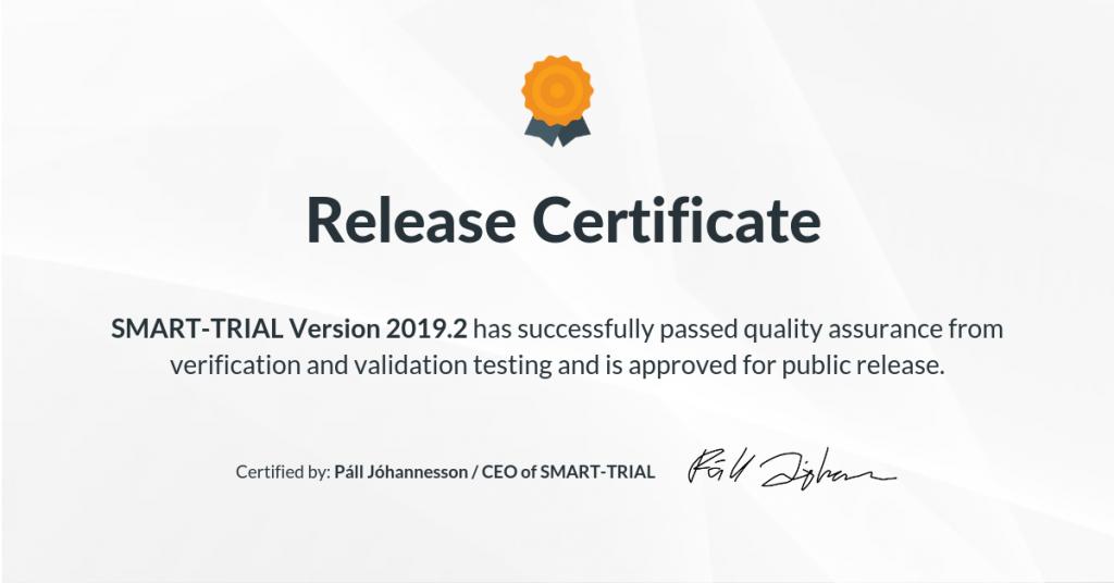 2019.2 Release Certificate